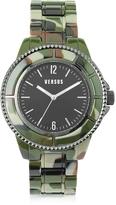 Versace Versus Tokyo 42 Stainless Steel Camo Acetate Unisex Watch