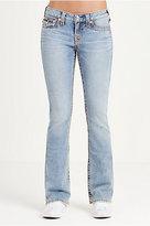 True Religion Bootcut Flap Multi Big T Stitch Womens Jean