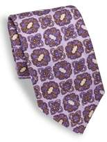 Isaia Medallion Printed Silk Tie