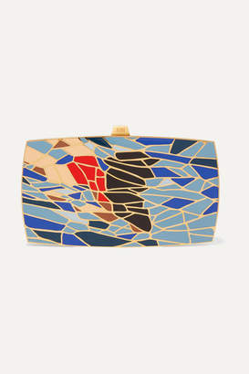 13bc 13BC - The Dive Gold-tone And Enamel Clutch