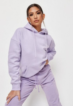 Missguided Lilac Oversized Hoodie