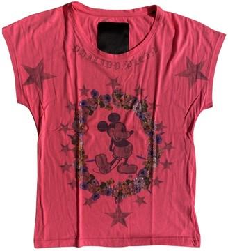 Philipp Plein Pink Cotton Top for Women
