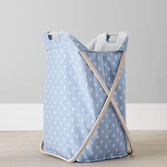 Pottery Barn Teen Butterfly Hamper, Blue Paisley