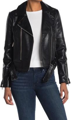 Noize Meghan Vegan Leather Belted Jacket
