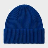 Paul Smith Men's Indigo Cashmere Beanie Hat