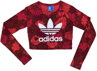 adidas Red Cotton Tops