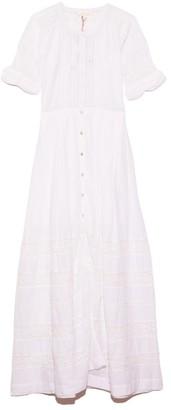 LoveShackFancy Edie Dress in White