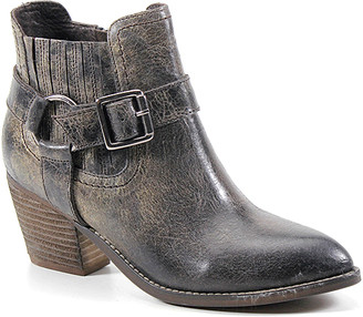 Diba True Women's Casual boots CHARCOAL - Charcoal Mud Play Leather Ankle Boot - Women