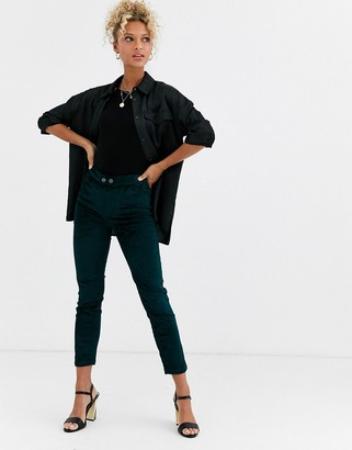 Free People Sweet Jane velvet skinny trousers