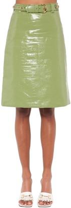 Dodo Bar Or Lolita Leather Midi Skirt