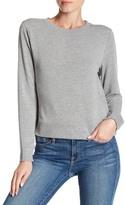 Cable & Gauge Long Sleeve Solid Sweatshirt