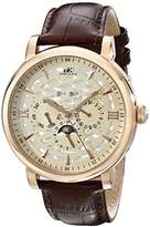 Adee Kaye Men's AK2242-MRG/CH Successo Analog Display Automatic Self Wind Brown Watch