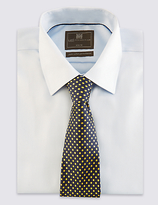 M&S Collection Pure Silk Spotted Tie
