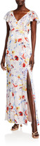 Parker Black Lielle Floral Column Dress