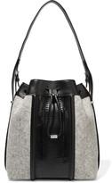 Alexander Wang Leather and elaphe-trimmed felt shoulder bag