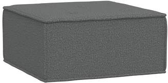 Pottery Barn Teen Oversized Cushy Ottoman, Tweed Charcoal, In-Home