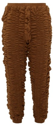 Bianca Saunders - Bounce Back Ruched Cotton Track Pants - Mens - Brown