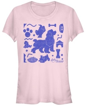 Fifth Sun Women's Lady and the Tramp Short Sleeve T-shirt