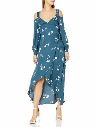 MinkPink Women's Falling Blooms Wrap Midi Dress