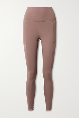 Nike Yoga Infinalon Lace-trimmed Dri-fit Leggings - Antique rose