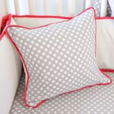 Caden Lane Coral and Grey Square Pillow