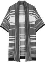 Vince Paneled Striped Cotton Cardigan