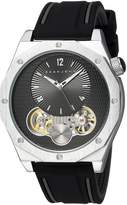 Sean John Men's 'Faux Automatic' Quartz Metal and Silicone Dress Watch, Color: (Model: SJC0177001)