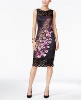 Thalia Sodi Mixed-Print Sheath Dress, Only at Macy's