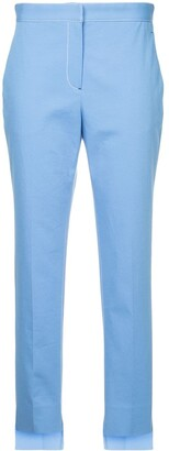 Rosetta Getty Contrast Stitch Tapered Trousers