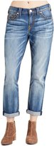 True Religion Women's Audrey Mid Rise Slim Boyfriend Super T Jeans in