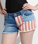 Fred Flare American Flag Denim Shorts