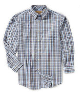 Roundtree & Yorke Gold Label Non-Iron Long-Sleeve Plaid Sportshirt