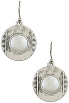 Lucky Brand Coin Stone Drop Earrings