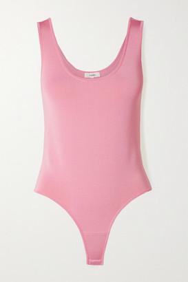 CASASOLA + Net Sustain Stretch-knit Thong Bodysuit - Baby pink