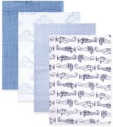 BabyVision® Hudson Baby® 4-Pack Airplanes Muslin Swaddle Blankets in Blue