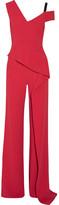 Roland Mouret Tilson Off-the-shoulder Cutout Stretch-crepe Jumpsuit - UK12