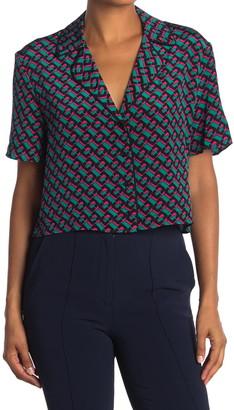 Diane von Furstenberg Cheryl Geo Printed Silk Camp Skirt