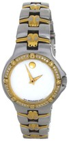 Movado Mother Of Pearl Dial Two-Tone Bangle Bracelet Womens Watch