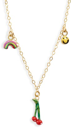 Susan Alexandra Three Charms Necklace
