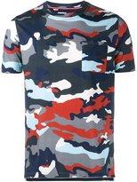 Moncler Gamme Bleu camouflage print T-shirt