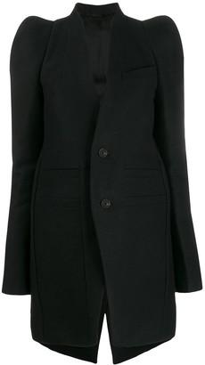 Rick Owens structured longline blazer