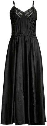Michael Kors Satin Charmeuse Crushed Cami Midi Dress