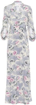 Co Floral-printed silk dress