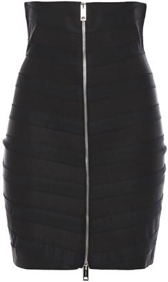 Burberry Tulle-trimmed Bandage Mini Skirt