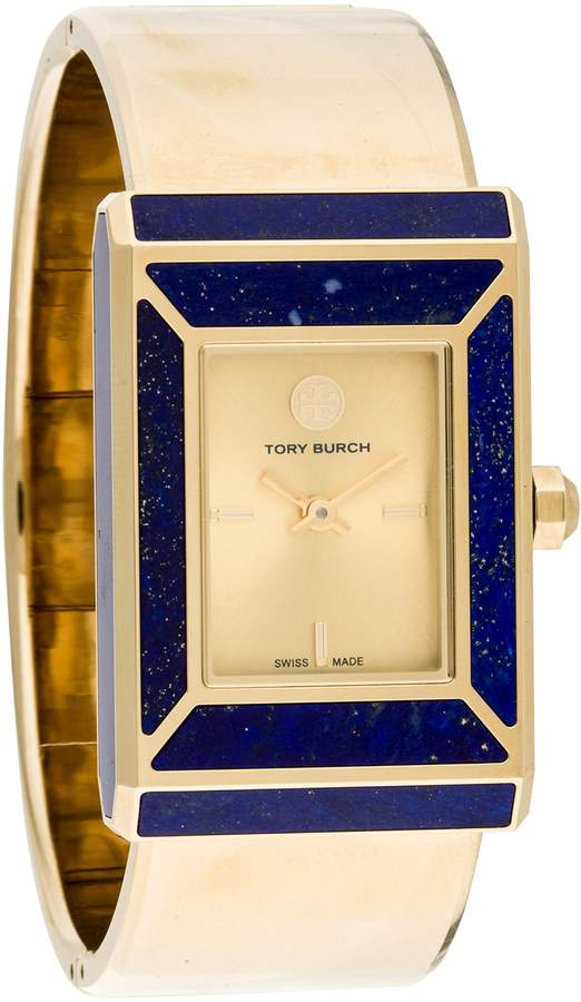 Tory Burch TRB5000 Robsinson Limited Edition Gold Stainless Steel Lapis Inlay Women's Watch