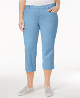 Style and Co Plus Size Tummy-Control Capri Jeans, Created for Macy's
