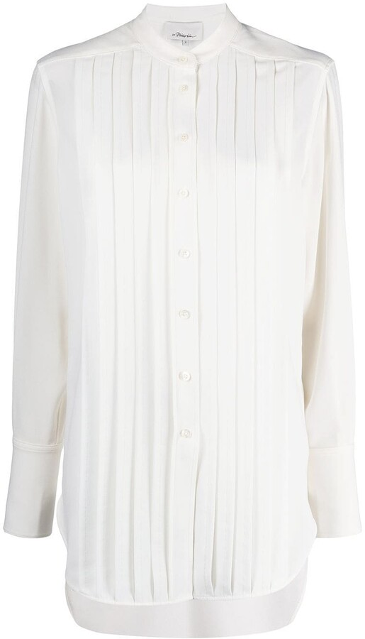 Thumbnail for your product : 3.1 Phillip Lim Pleated-Panel Button-Up Shirt