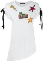 Dolce & Gabbana patch embroidered T-shirt - women - Cotton - 38