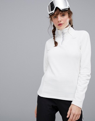 Protest Mutey 1/4 zip fleece in white