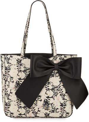 Karl Lagerfeld Paris Canelle PVC Polka Dot Bow Tote Bag